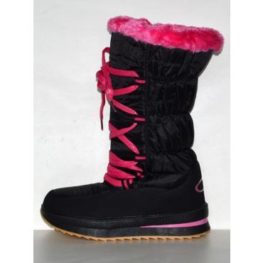Snehule Flake čierno/ružové
