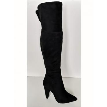 Black čierne vysoké čižmy