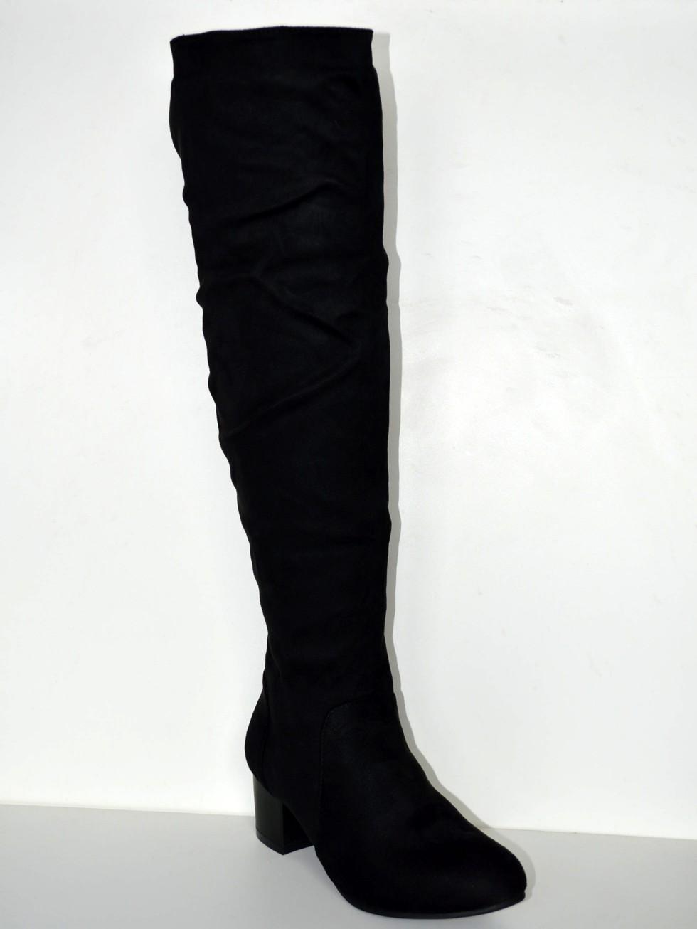 5c9715499bbd8 Zimné čižmy zateplené čižmy nad kolená zo semišu.